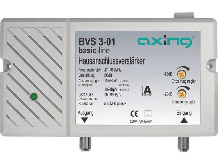 Axing BVS 3 01 Kabeltelevisieversterker 30 dB