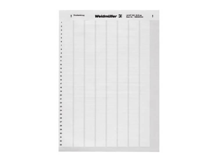 Labelprinter Montagemethode: Plakken Markeringsvlak: 17 x 9 mm Wit Weidmüller LM MT300 17X9 WS 1724151044 Aantal markeringen: 3410 10 stuks
