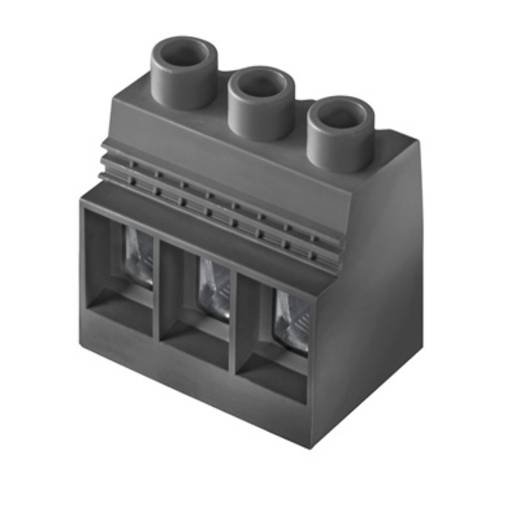 Klemschroefblok 35.00 mm² Aantal polen 3 LXXX 15.00/03/90 4.5SN BK BX Weidmüller Zwart 10 stuks