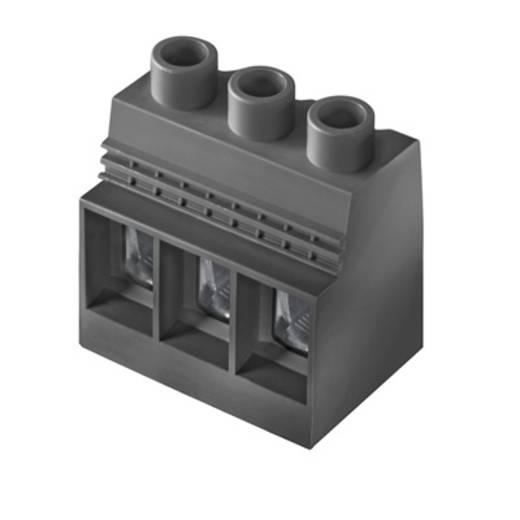 Klemschroefblok 35.00 mm² Aantal polen 4 LXXX 15.00/04/90 4.5SN BK BX Weidmüller Zwart 10 stuks
