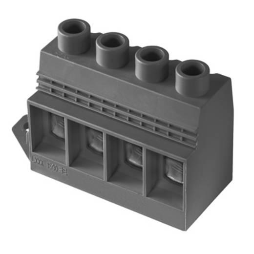Klemschroefblok 35.00 mm² Aantal polen 4 LXXX 15.00/04/90FL 4.5SN BK BX Weidmüller Zwart 10 stuks