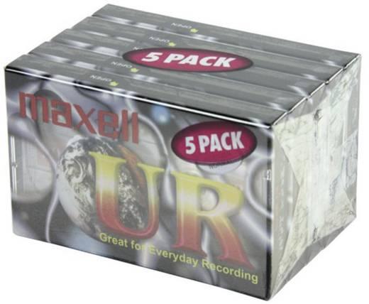 Maxell audiocassette 90 min. 5 stuks met gratis potlood