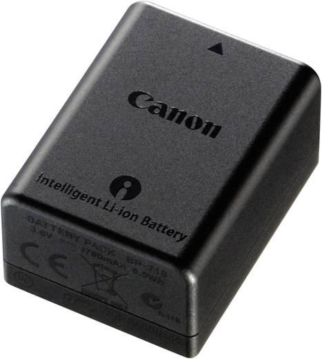Canon Camera-accu Vervangt originele accu BP-718 3.6 V 1800 mAh