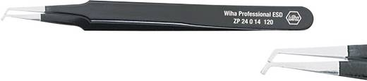 SMD-pincet Plat, gebogen 45° 120 mm