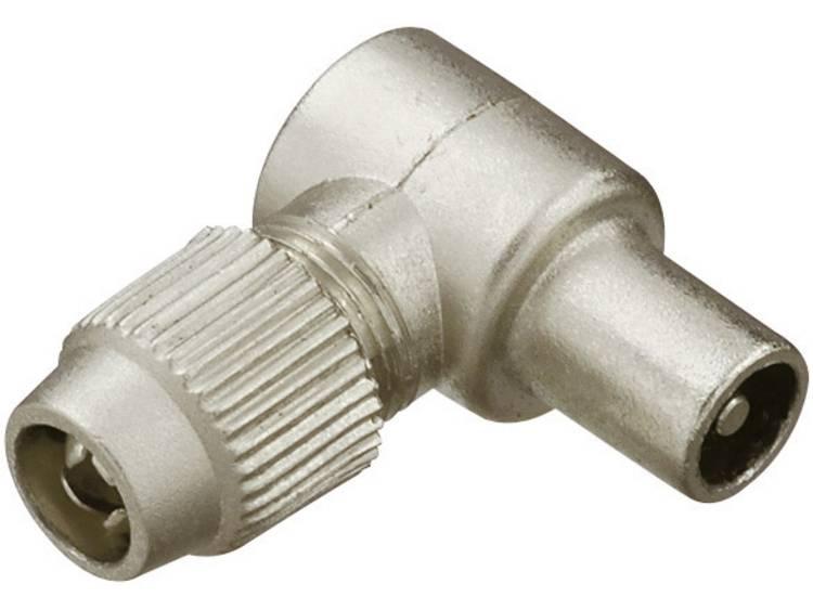 Renkforce 0410321 Coax-haakse stekker metaal Kabeldiameter: 7 mm
