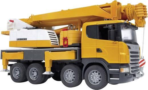 Bruder Scania R-serie Liebherr kraanwagen met licht en geluid 3570