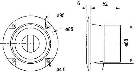 Visaton LC-95 Mono Inbouw-luidsprekerregelaar 100 W