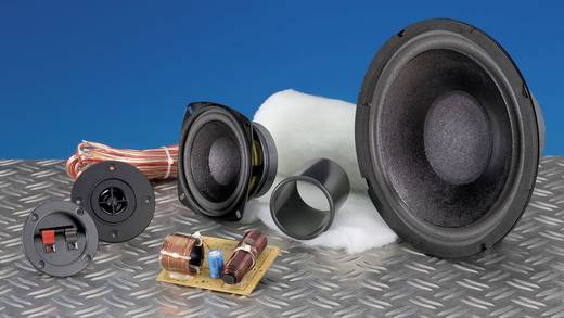 SpeaKa Professional Kit 2 3-weg luidspreker (bouwpakket) Incl. dempingsmateriaal, Incl. frequentiewissel, Incl. kabel