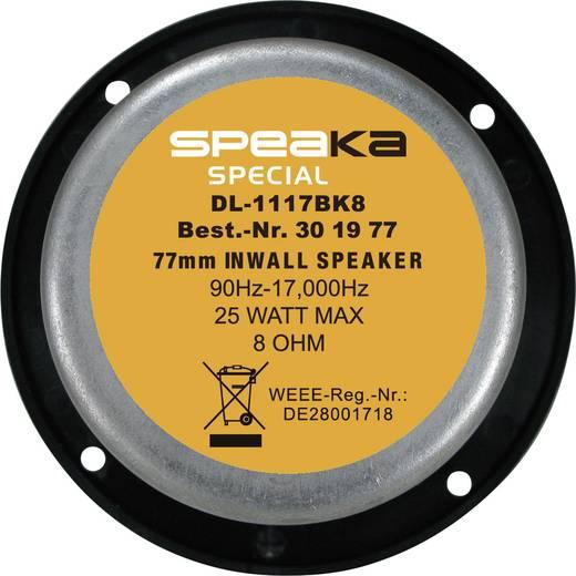 SpeaKa DL-1117 Inbouwluidspreker 25 W 8 Ω Zwart 1 stuks