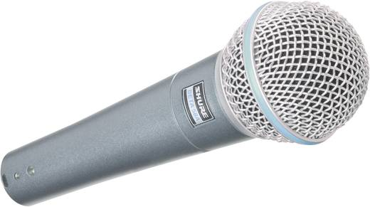 Shure Beta 58 A Hand Zangmicrofoon Kabelgebonden Incl. klem