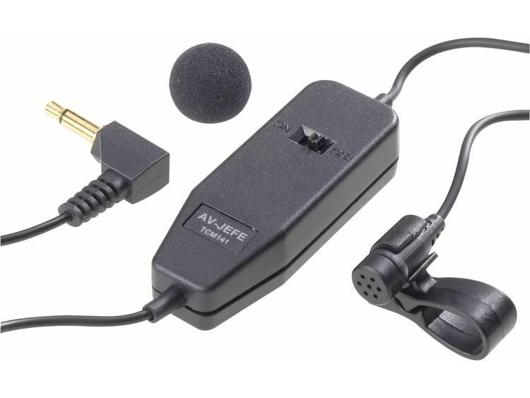 Dasspeld Spraakmicrofoon Kabelgebonden incl. klem, incl. windscherm