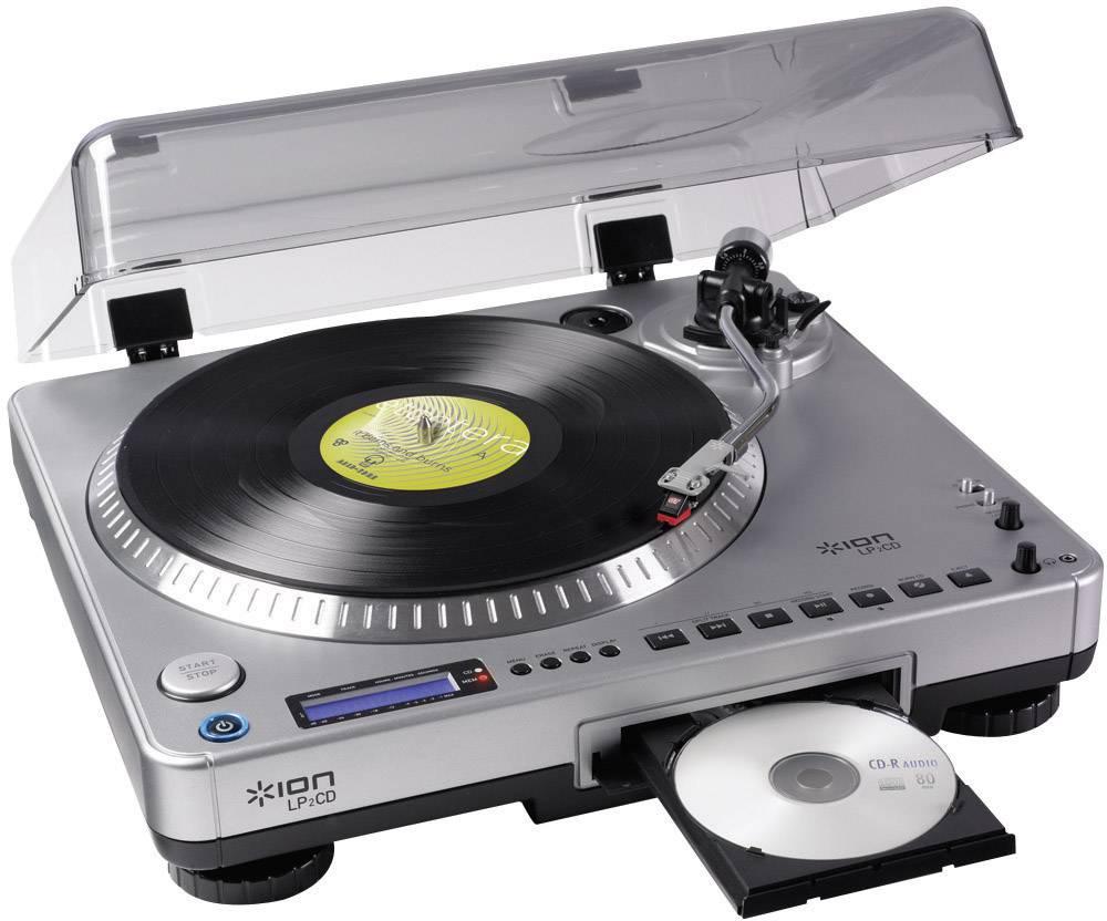 Wonderlijk USB-platenspeler ION Audio LP 2 CD Belt drive Zilver | Conrad.nl CR-76