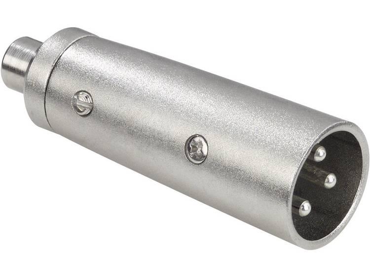 Adapter XLR-male-cinch-female XLR-male-cinch-female mono