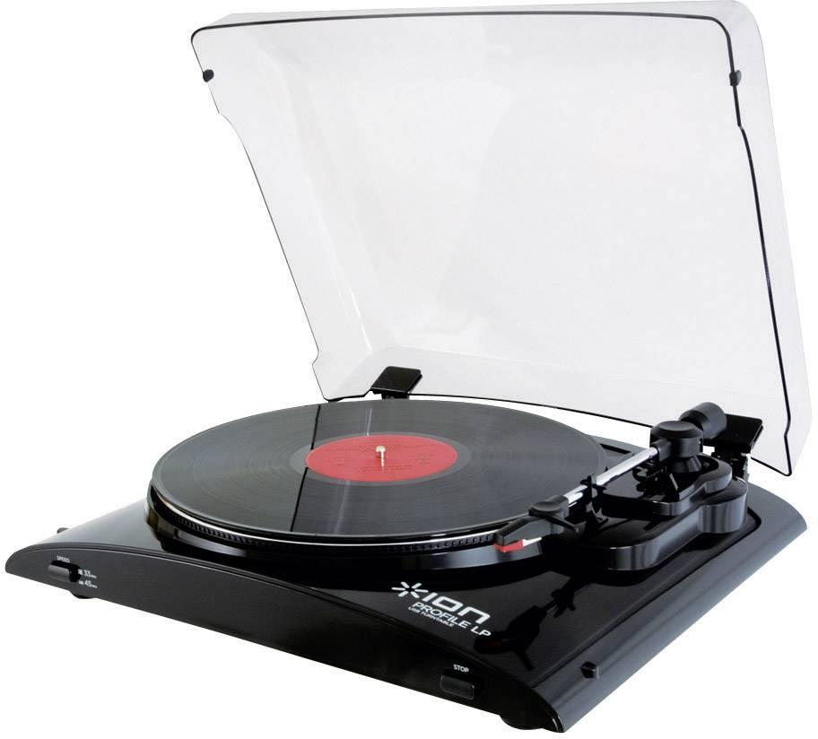 Wonderbaarlijk USB-platenspeler ION Audio Profile LP Belt drive Zwart | Conrad.nl LC-83
