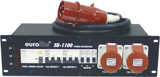 "Eurolite SB-1100 19"" stroomverdeler 9-voudig 3 HE"