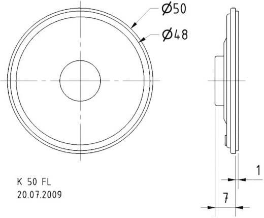 Breedband-luidsprekerchassis 2 inch Visaton K 50 FL 1 W 8 Ω