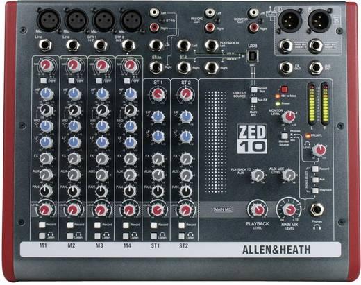 Allen & Heath ZED-10 Console-mengpaneel Aantal kanalen:8 USB-aansluiting