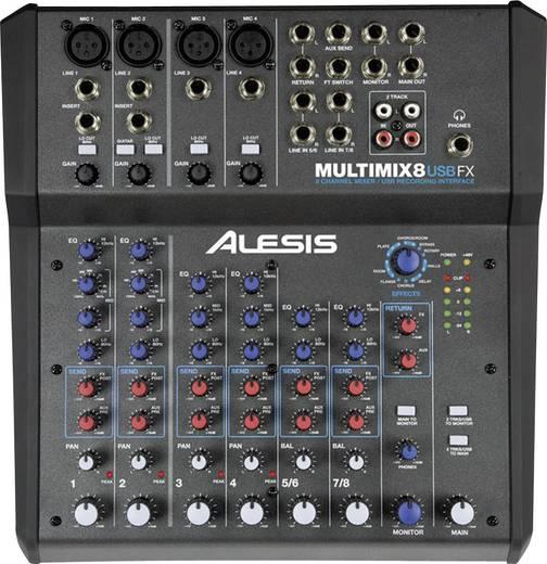 Alesis Multimix 8 USB FX Console-mengpaneel Aantal kanalen:8 USB-aansluiting