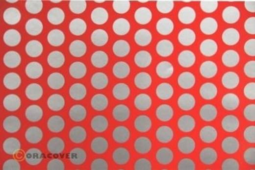 Oracover Easyplot Fun 1 90-021-091-010 Plotterfolie (l x b) 10 m x 60 cm Rood-zilver (fluorescerend)