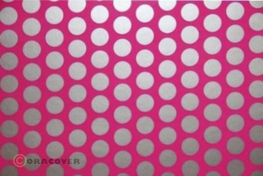 Strijkfolie Oracover 41-014-091-010 Fun 1 (l x b) 10 m x 60 cm Neon-roze-zilver (fluorescerend)