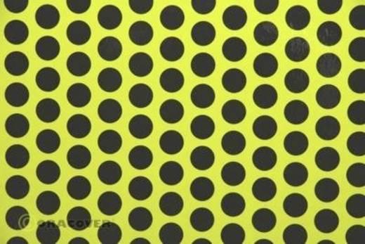 Strijkfolie Oracover 41-031-071-010 Fun 1 (l x b) 10 m x 60 cm Geel-zwart (fluorescerend)