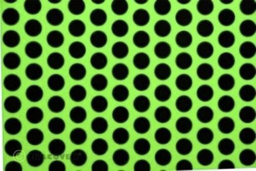 Strijkfolie Oracover 41-041-071-010 Fun 1 (l x b) 10 m x 60 cm Groen-zwart (fluorescerend)