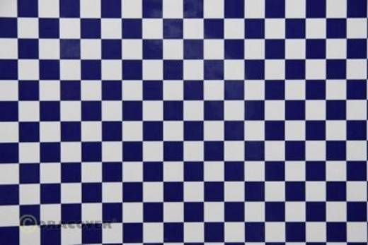 Strijkfolie Oracover 44-010-052-010 Fun 4 (l x b) 10 m x 60 cm Wit-donkerblauw