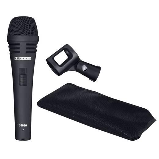 LD Systems D1020 Hand Zangmicrofoon Kabelgebonden Incl. klem