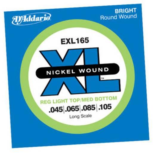 D´Addario EXL165 Regluar Light Elektrische bassnaar