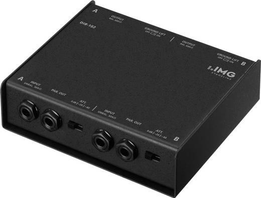 Passieve DI box 2-kanaals IMG Stage Line DIB-102