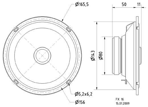 Visaton FX 16 WP Luidspreker voor buiten 80 W IP65 Wit 1 stuks