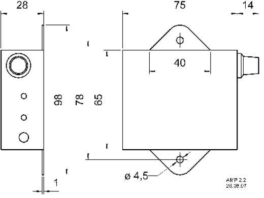 Visaton AMP 2.2 LN Stereo Luidsprekerregelaar 6 W