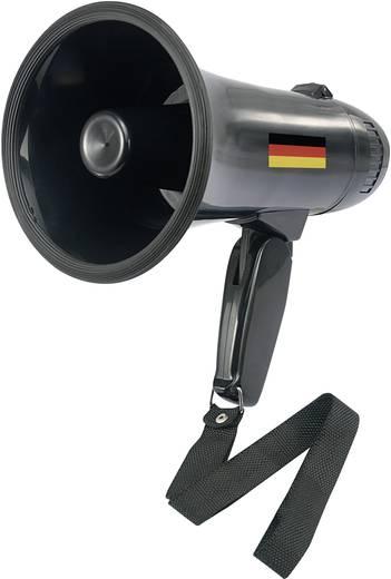 Mini-megafoon Basetech Deutschland Fan Met geluiden, Met dr