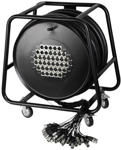 AH Cables K40C50D Multicore kabelhaspel 50 m Aantal ingangen:32 x Aantal uitgangen:8 x