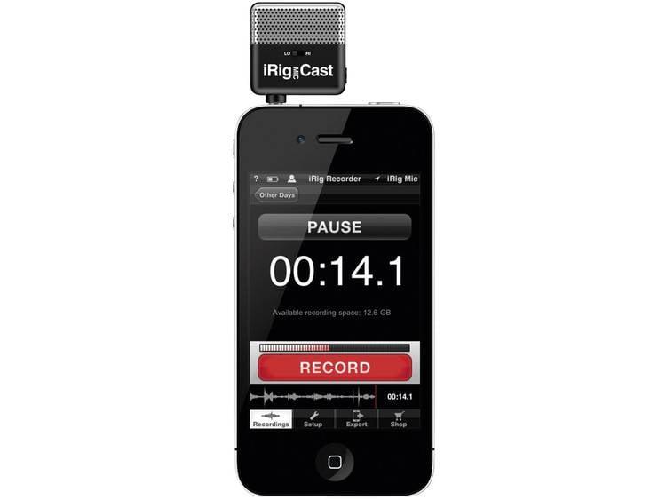 IK Multimedia iRig Mic Cast mini microfoon voor iOS en Android