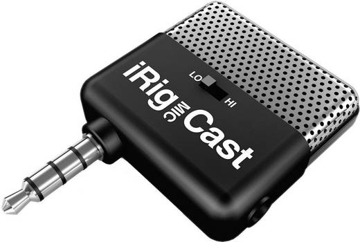 iRig Mic Cast Dasspeld Smartphone microfoon Zendmethode: Direct