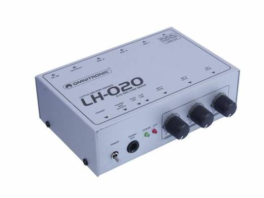 3-kanaals Microfoonmengpaneel Omnitronic LH-020