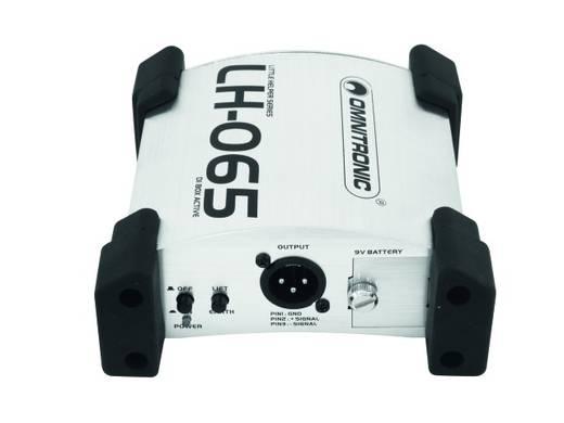 Actieve DI box 1-kanaals Omnitronic LH-065 active