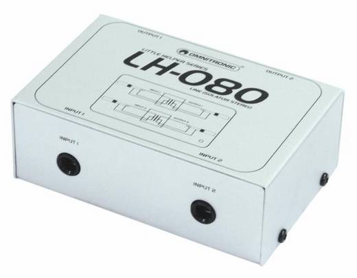 Omnitronic LH-080 Omnitronic LH-080 stereo-isolator TRS