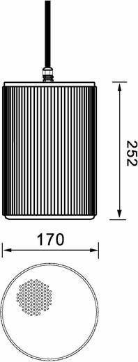Omnitronic WP-25W ELA-plafondluidspreker 40 W 100 V Wit 1 stuks