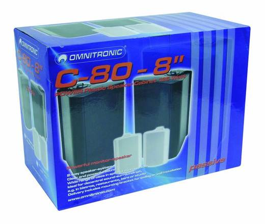 Omnitronic C-80 Wit Monitorboxen