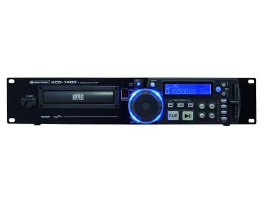 DJ 19 inch enkele CD-player Omnitronic XCP-1400