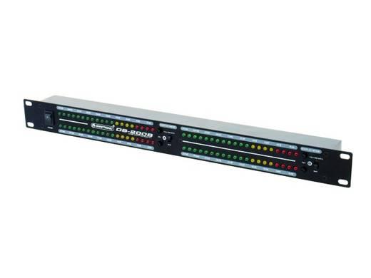 Omnitronic DB-200B 2-kanaals 19 inch volumeaanduiding