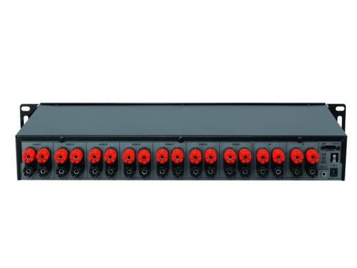 7 poorten Luidspreker-schakelaar Omnitronic LUB-27 Zwart