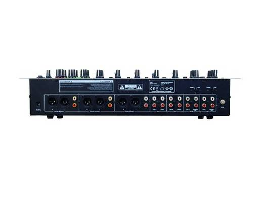 Omnitronic EM-640 DJ-mixer 19 inch inbouw