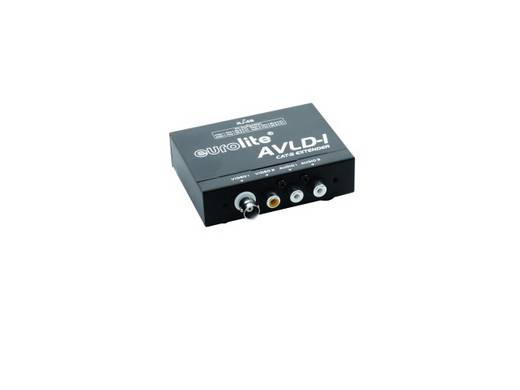Eurolite 81013020 Cinch (stereo), Cinch (video) Extender (verlenging) via netwerkkabel RJ45 600 m