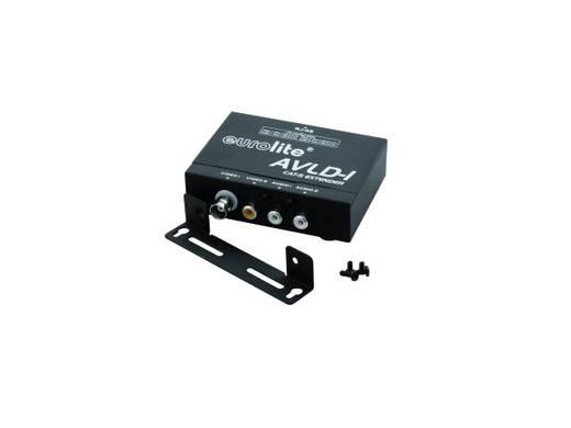 Eurolite 81013020 Cinch (stereo), Cinch (video) Extender (verlenging) via netwerkkabel RJ45 600 m N/A