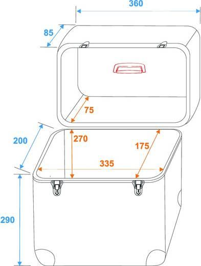 Plattencase Aluminium Flightcase (l x b x h) 230 x 370 x 400 mm