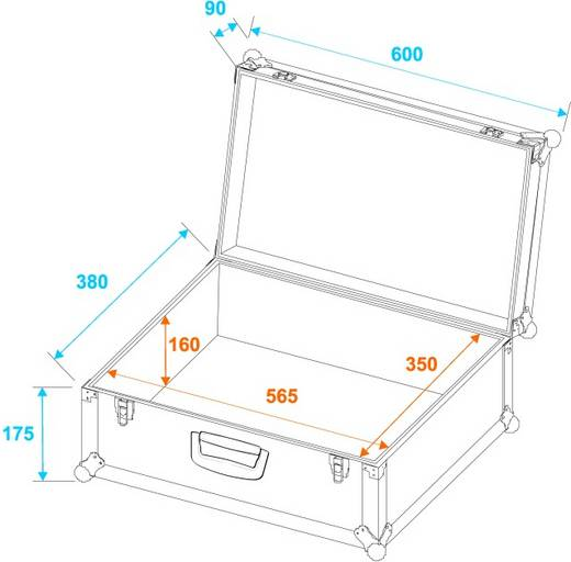 Flightcase 30126201 (l x b x h) 270 x 600 x 390 mm