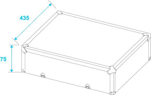 schwarz -S- Flightcase (l x b x h) 225 x 530 x 490 mm